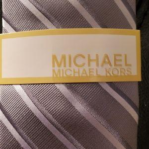 MICHAEL Michael Kors Accessories - Michael Michael Kors grey striped 100% silk tie.